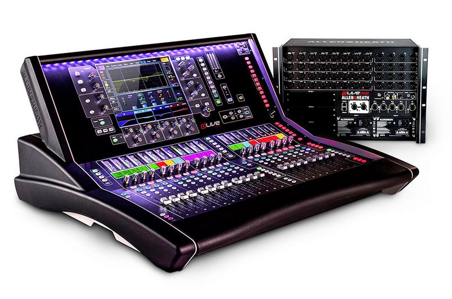 dLive S3000 Surface + DM32 Mix Rack