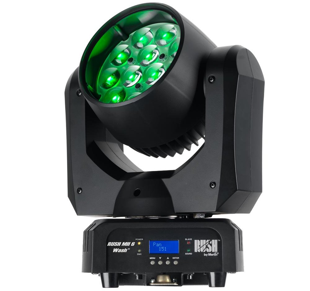 12x 10W RGBW Moving Head LED Wash with 10-60 Degree Zoom