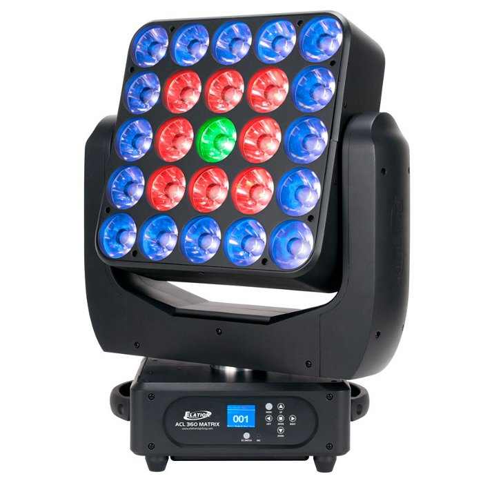 25 x 15W RGBW Quad LED Moving Head Luminaire