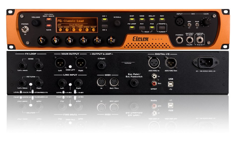 Avid Eleven Rack Guitar Recording Effects Processing System w/Pro Tools Subscription ELEVEN-RACK-PROTOOLS