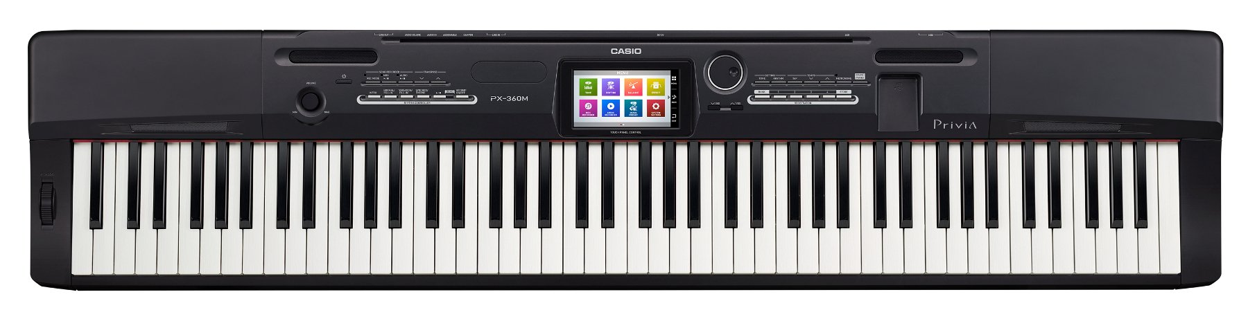 Casio PX-360 Privia Series 88-Key Digital Piano with Tri-Sensor Scaled Hammer Action and Color Touchscreen PX360BK