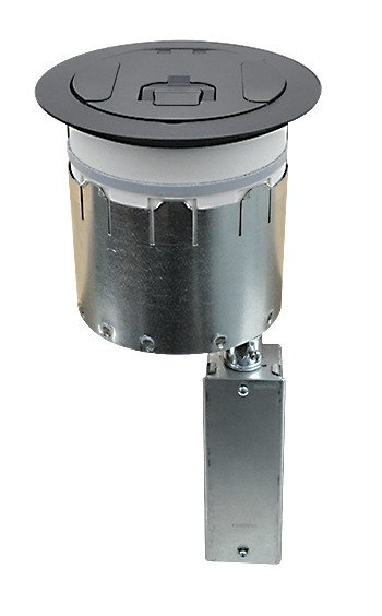 "SmartFit 6"" Poke-Thru Floor Box with Black Cover"