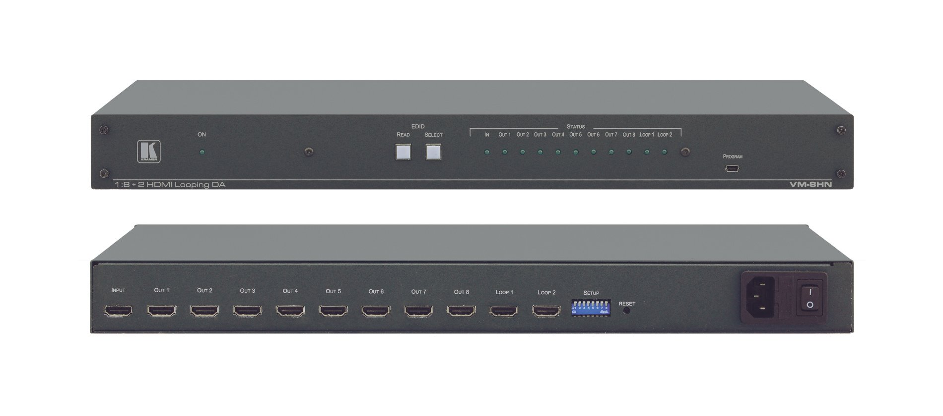 1:8+2 HDMI 4K Distribution Amplifier