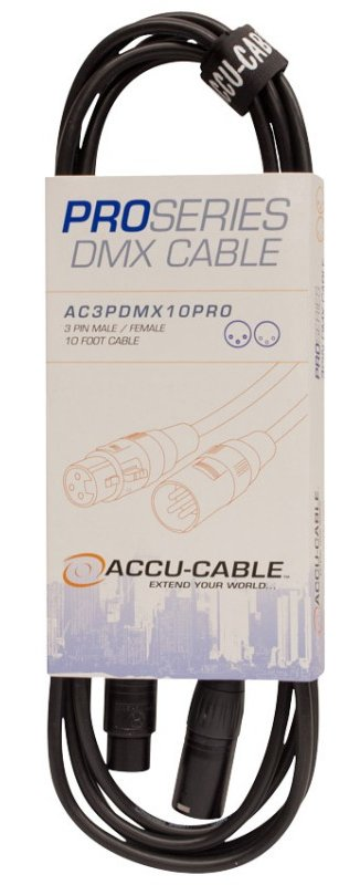 10 ft Pro Series 3-Pin DMX Cable