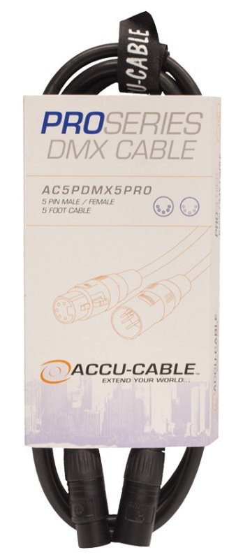 5 ft Pro Series 5-Pin DMX Cable