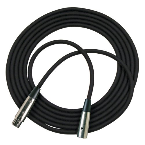 25 ft XLR Microphone Cable in Black