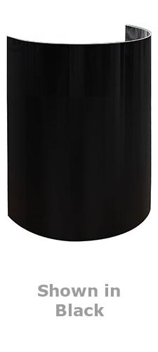 "Odyssey ODY""GLO"" SHIELDS/ODYSHIELDS 8 x 15"" High Up-Light Decor in White or Black [ODYSHLD1508WHT/ODYSHLD1508BLK] ODYSHLD1508"