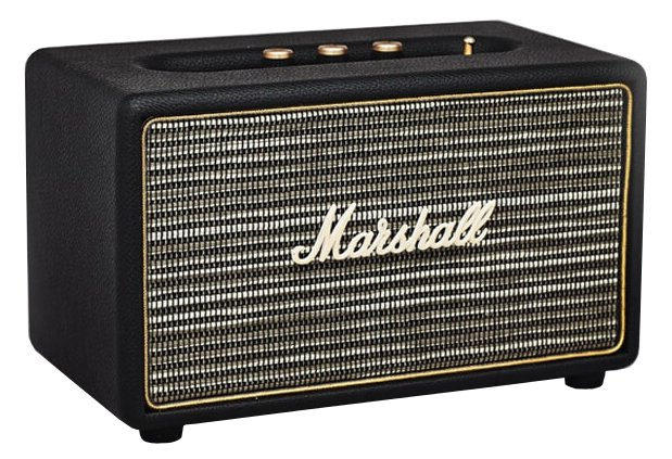 marshall amplification acton portable active stereo speaker with bluetooth connectivity in black. Black Bedroom Furniture Sets. Home Design Ideas