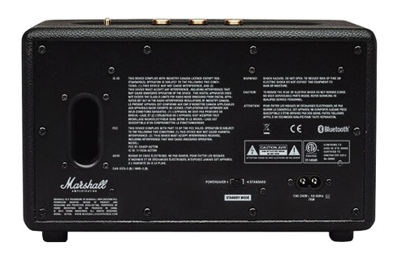 Marshall Amplification Acton Portable Active Stereo Speaker with Bluetooth Connectivity in Black M-ACCS-10126
