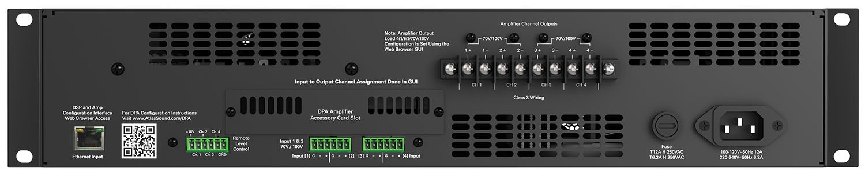 Network amp 2 x 1200W @ 70V