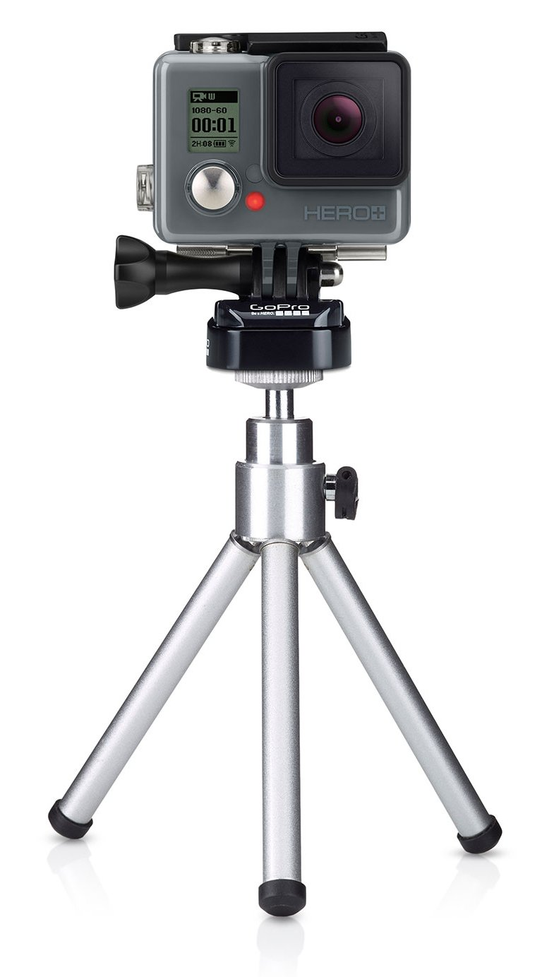 With Mini Tripod for GoPro Cameras