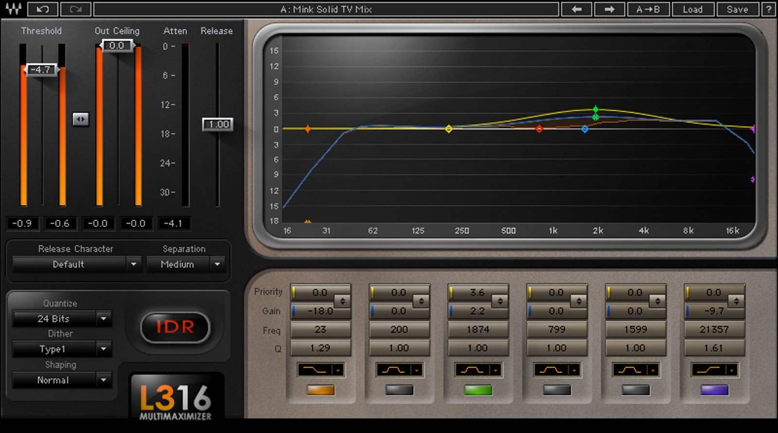 16-Band Peak Limiter Plugin