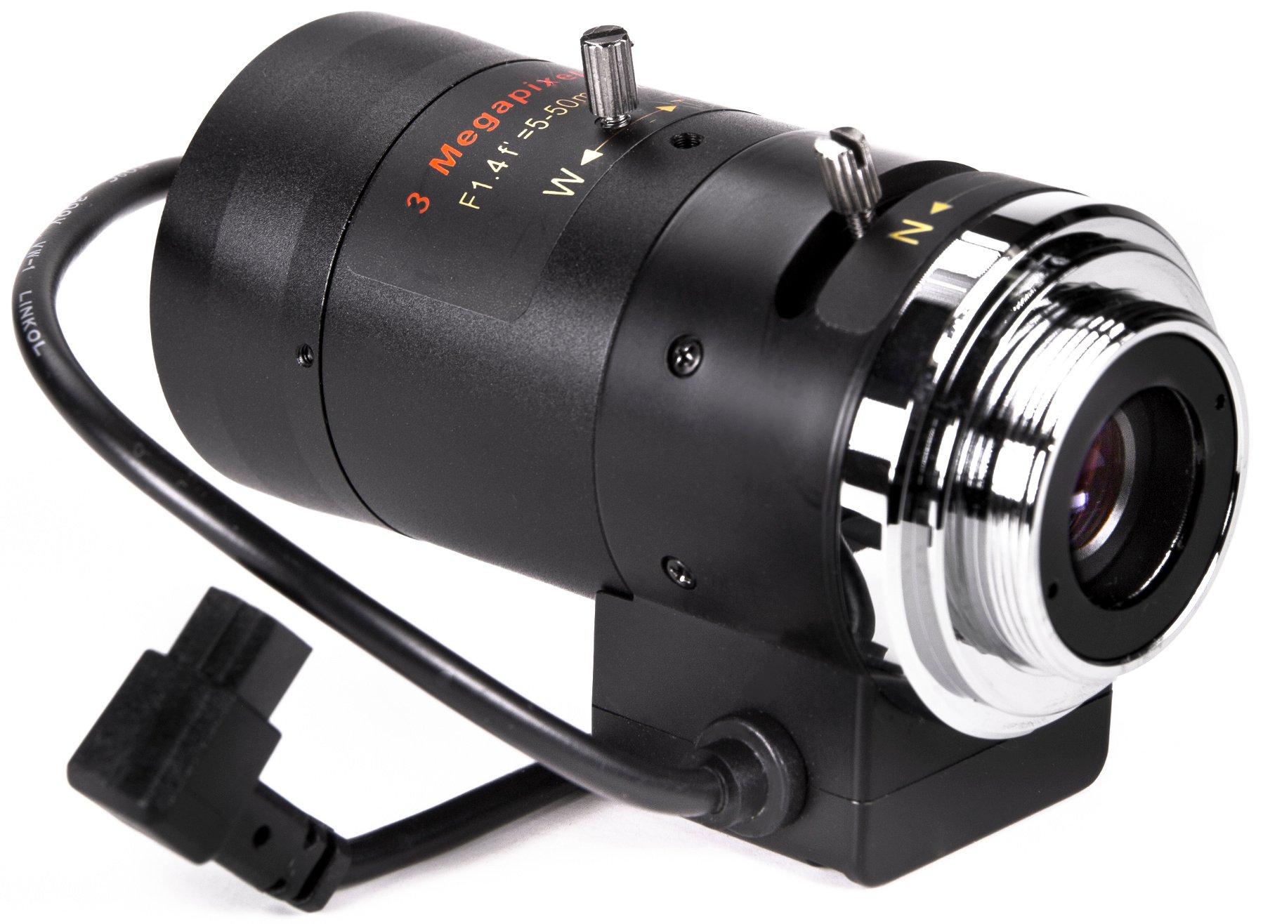 5.0-50mm F1.4 CS Mount Varifocal Lens