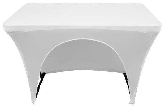 4' Banquet Table Slip Screen in Black or White [SPATBL4BLK/SPATBL4WHT]