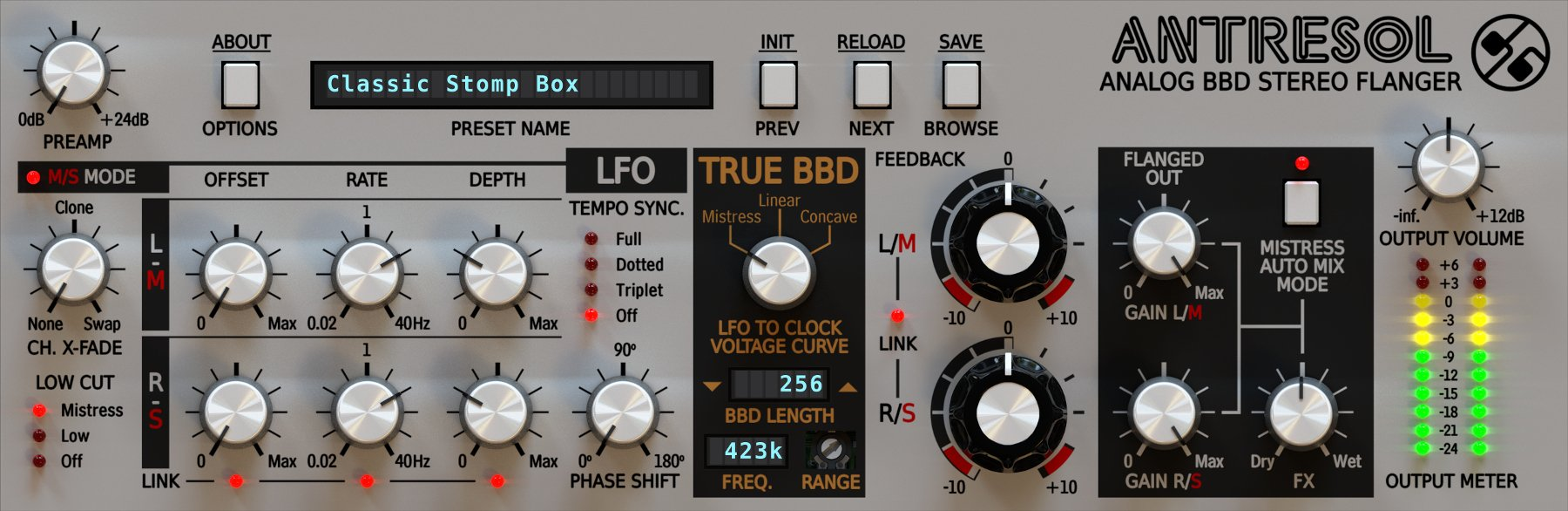 Analog Stereo Flanger Plug-in