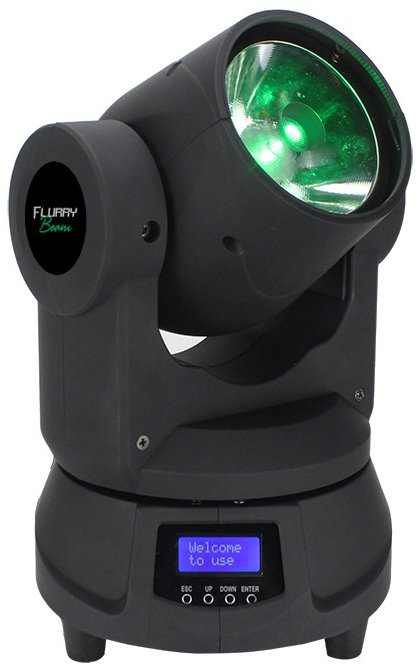 1x 60W RGBW Mini Moving Head Fixture with 2.5 degree Beam Angle