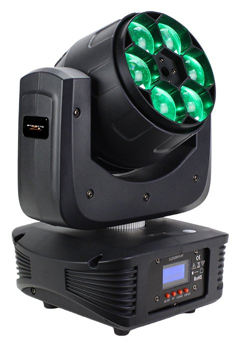 15W RGBW 4-in-1 LED Mini Moving Fixture with 6.5° - 60° Zoom