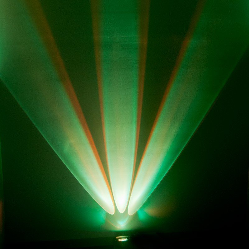 3x 15W RGBA+UV (5-IN-1) LED Offset Color Wall Wash Fixture with 6ch DMX