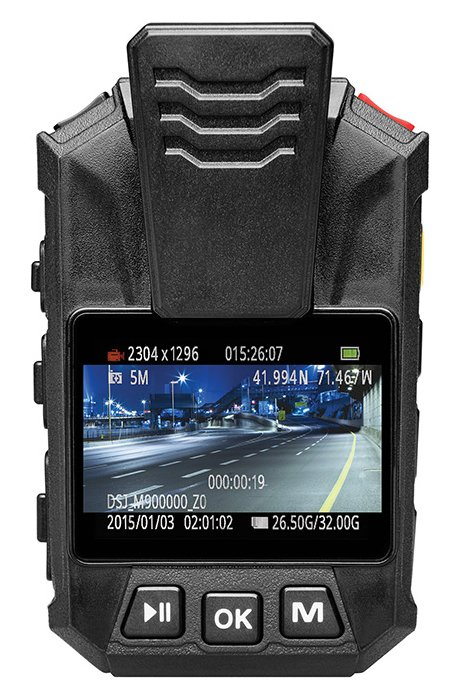 GPS-Enabled Body Camera with 32GB Internal Storage