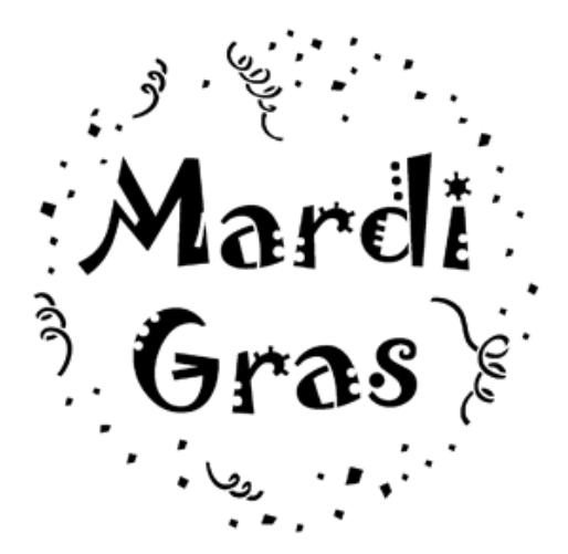 Mardi Gras Steel Gobo