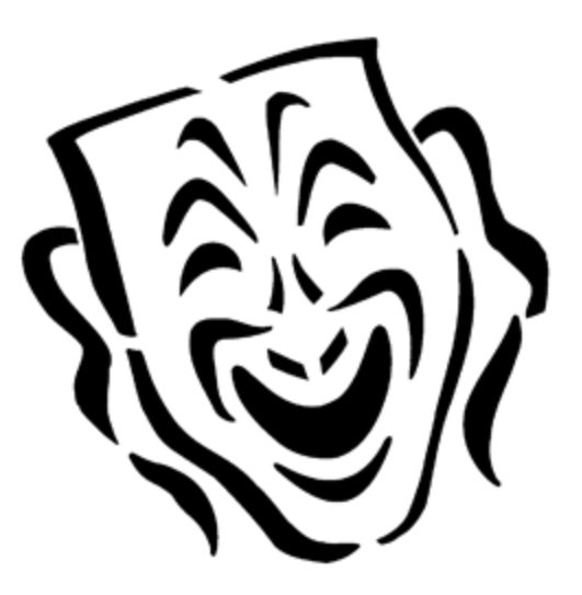 Mask Comedy Steel Gobo