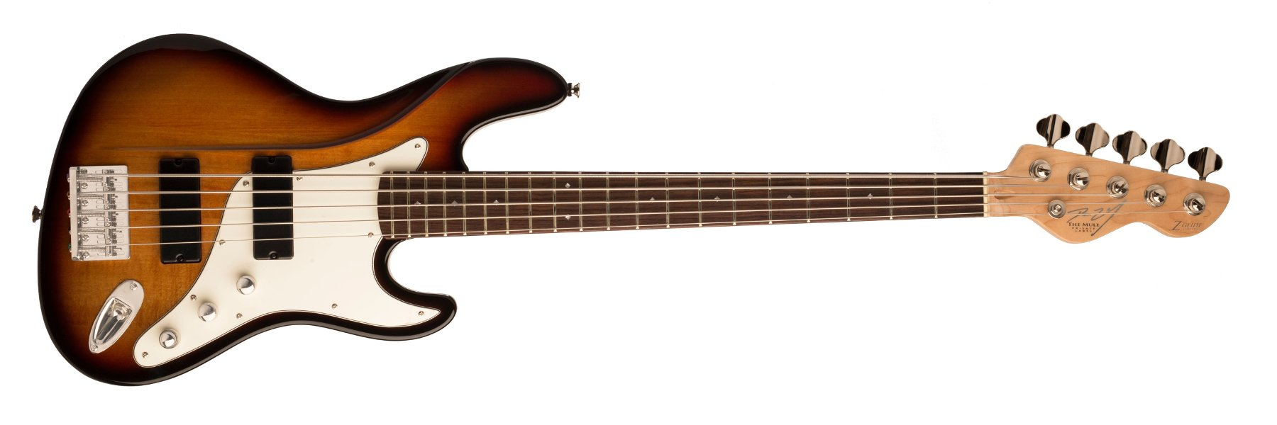 5-String Electric Bass with Z-Glide Neck and Active Humbuckers