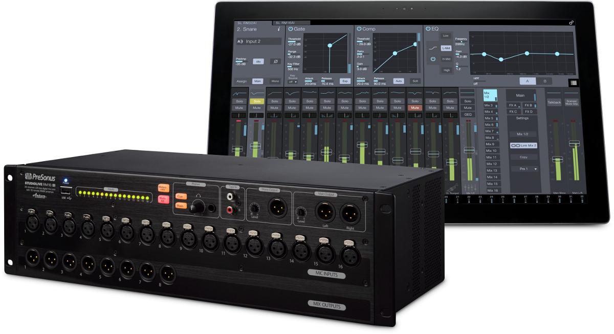 PreSonus AVB16AI Mix System Bundle w/CS18AI Control Surface and RM16 Mixer AVB16AI