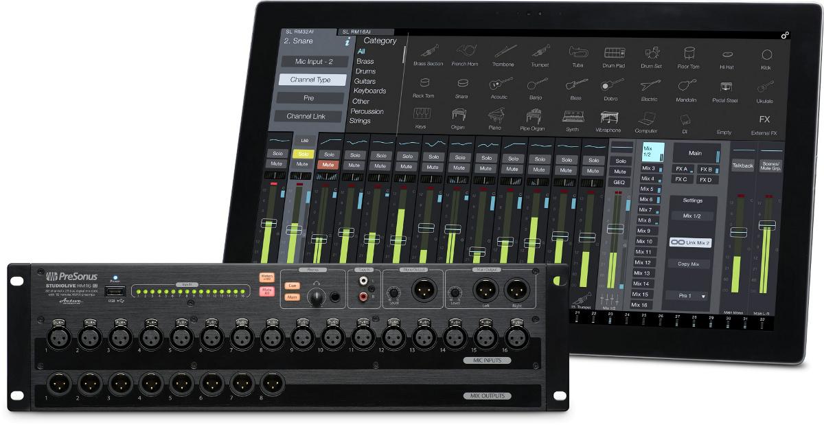 Bundle w/CS18AI Control Surface and RM16 Mixer