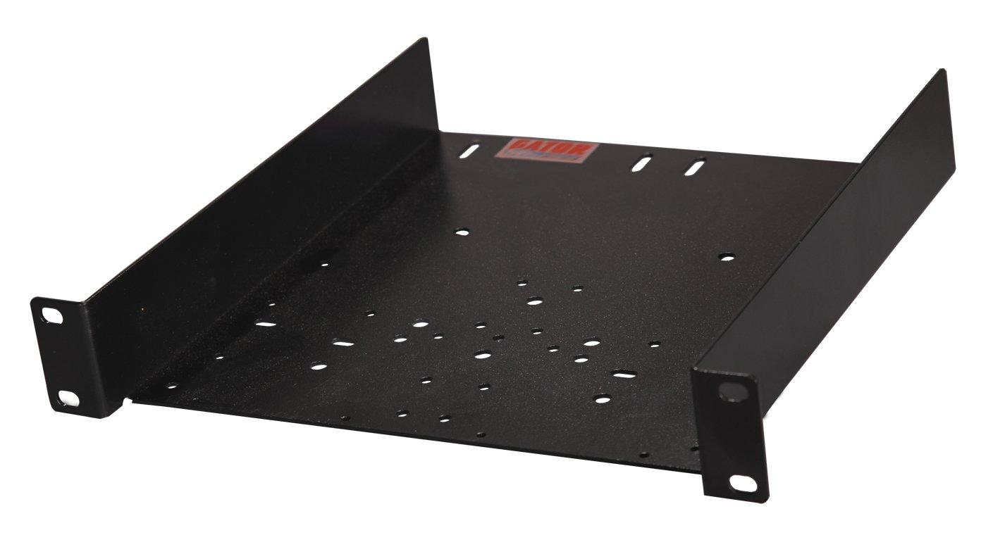 1RU Half-Rack Shelf with Universal Hole Pattern