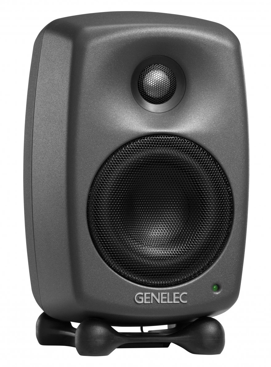 "Pair of 4"" 2-Way 100 Watt Smart Active Studio Monitors with GLM V2.0 and Volume Control"