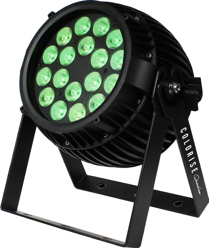 Fanless 18x 10W 4-in-1 RGBW LED PAR with AnyFi Universal Wireless DMX