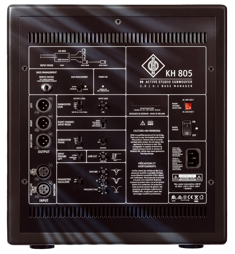 "Neumann KH 805 10"", 200W Active Studio Subwoofer KH805"