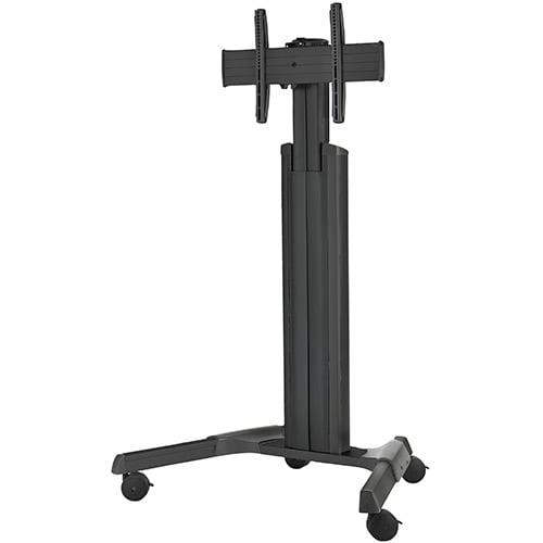 Medium Fusion Manual Adjust Mobile AV Cart, Black