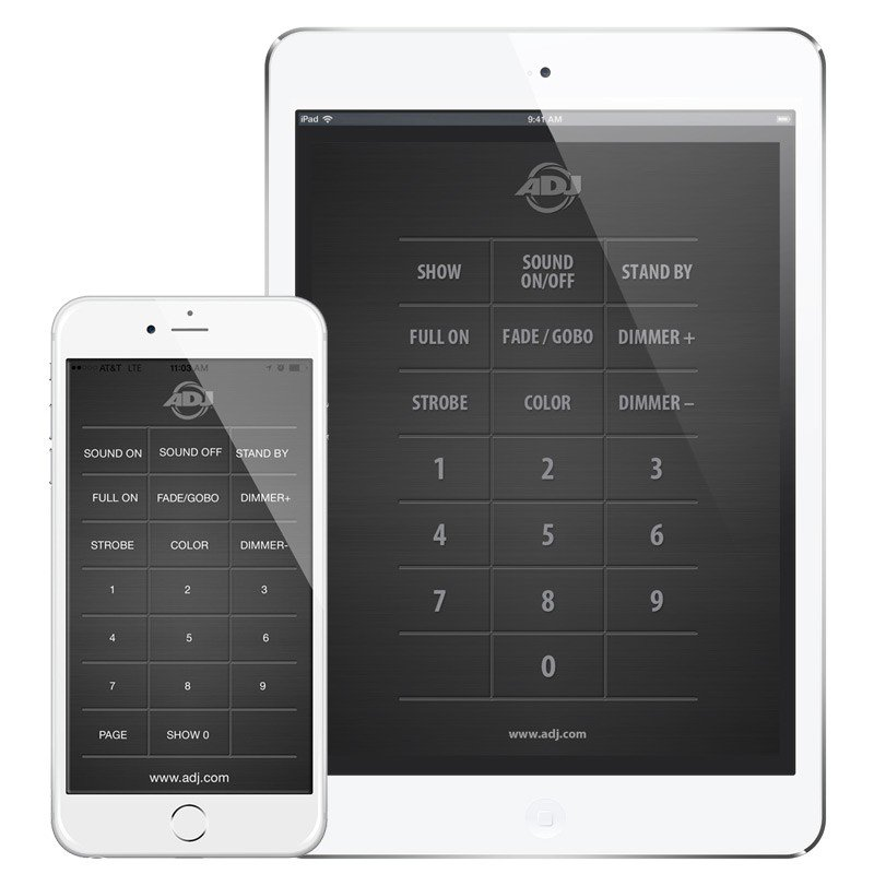 Universal IR Control App for ADJ Fixtures