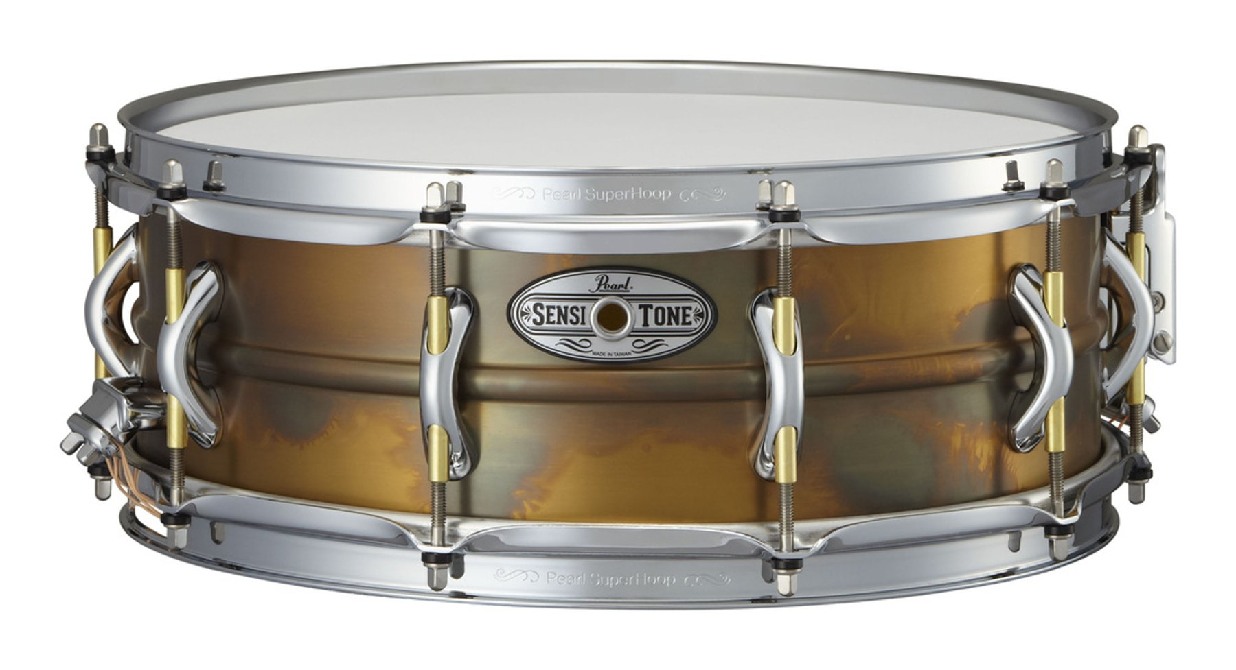 "14"" x 5"" SensiTone Premium Beaded Brass Snare Drum"