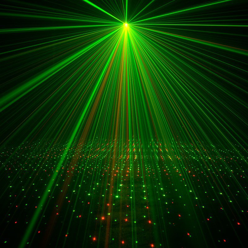 Red & Green Laser Shower Effect Fixture with IR Control