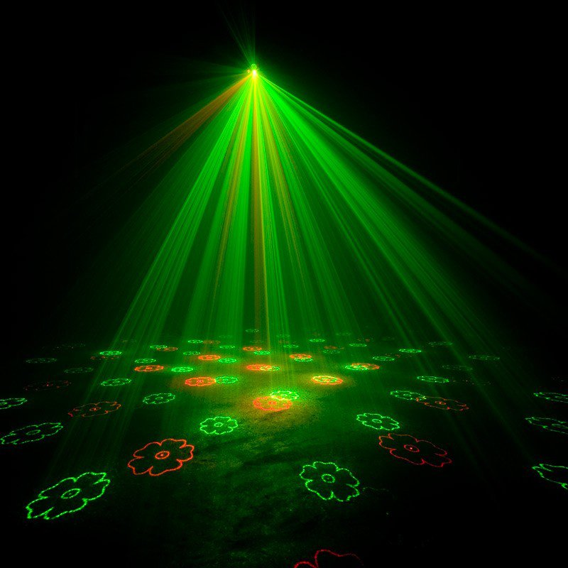 Red & Green Mini Laser Effect Fixture with IR Control