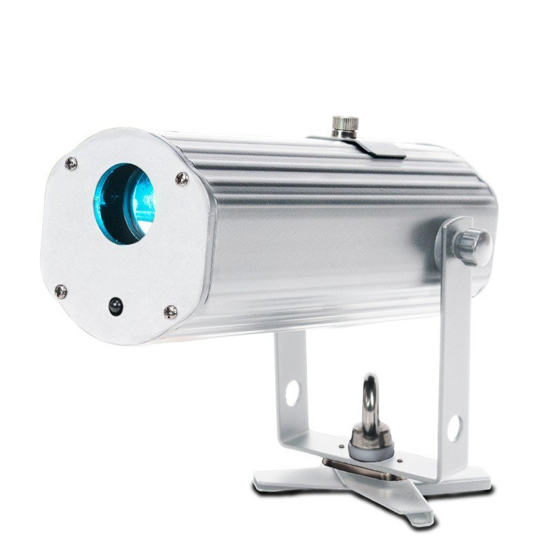Battery Powered 10W Cool White LED Gobo Projector