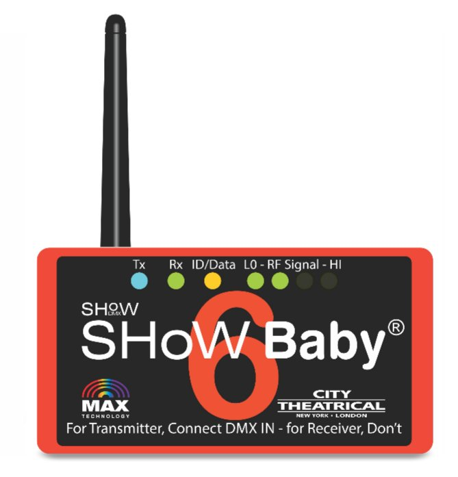 City Theatrical SHoW Baby 6 5-Pin Wireless DMX Transceiver SHOW-BABY-6