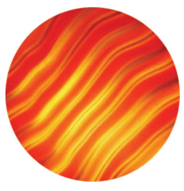 Rosco Laboratories 33101 Red Waves Effects ColorWaves Glass Gobo 33101