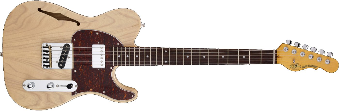 Electric Guitar with SH Pickup Configuration, Blonde Finish, and Rosewood Fingerboard