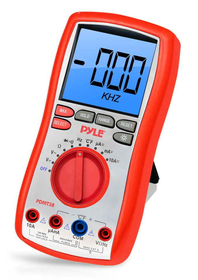 Digital Multimeter with Rubber Case/Stand/Test Leads
