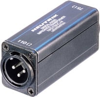Adapter, Female BNC 75 ohm to Male XLR 110 ohm