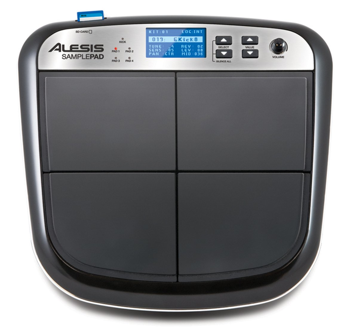 Electronic Multi-Pad Drum Instrument