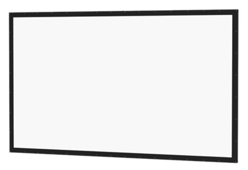 "77"" HDTV 16:9 Perm-Wall Fixed Frame Screen with Da-Mat Surface"