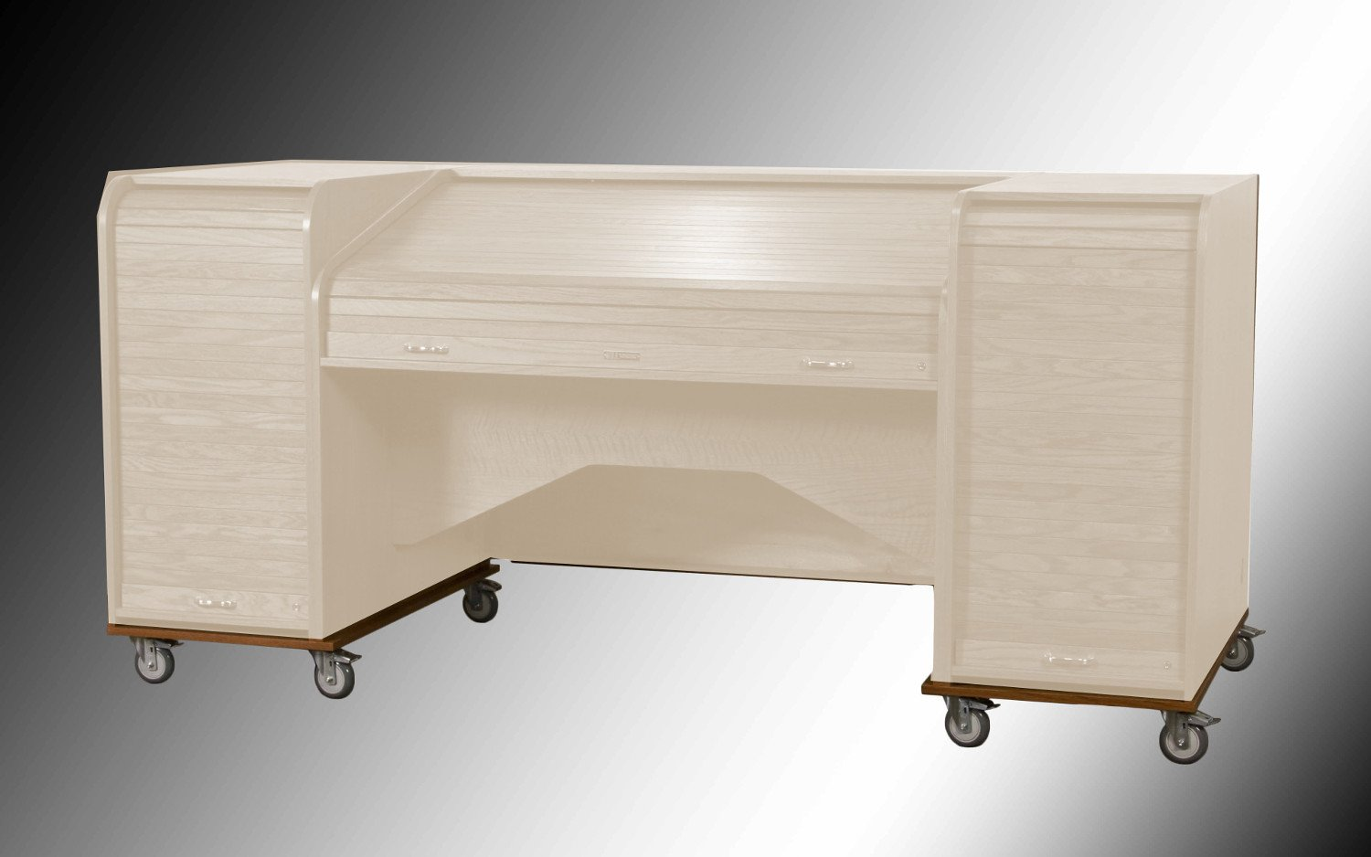 """RollBase Rolling Platform for Mini Desks with 4"""" Heavy-Duty Casters"""