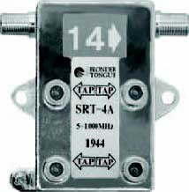 4 Output 5-1000 MHz In-Line Style Directional Tap (Multiple Tap Values Available)