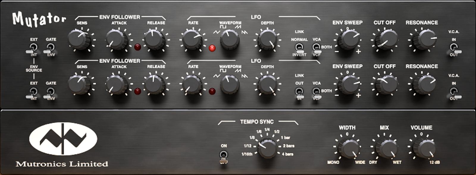 Stereo Analog Filter Plugin, Virtual Version