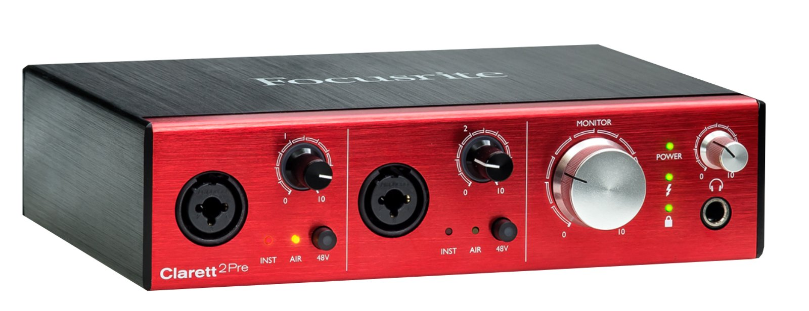 10-In / 4-Out Thunderbolt Interface with 2 Clarett Microphone Preamps