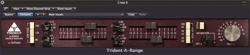 Softube Trident A Range Vintage EQ Plugin TRIDENT-A-RANGE